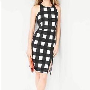 Banana Republic Black and White Checkered Dress